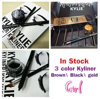 Wholesale In stock sale Kylie Cosmetics Kylie Kyliner In Brown Black gold Kyliner Kit Birthday Edition Dark Bronze Set