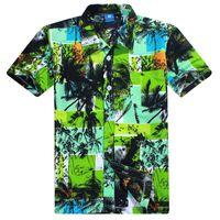 Wholesale Summer Mens Hawaiian Shirt Short Sleeve Beachwear Clothing Polyester Quick Dry Tropical Printed Fancy Shirts Camisa Masculina