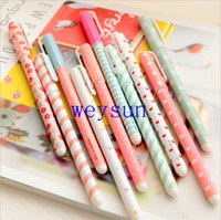 Wholesale 10 Pieces set mm Black Colors Gel Pen Stationery Office Learning Cute Pen Kandelia