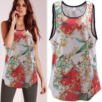 big print signs - Sign summer new small explosion models in Europe and America vest vest shirt printing loose big yards tide