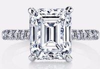 emerald cut diamonds - GIA Certified VS1 VS2 Emerald Cut Diamond Engagement Ring K GOLD