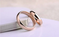 Wholesale High quality and polished rose gold plated copper ring wedding rings rose gold plated mirror Christmas gift US size mm width