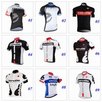 Wholesale 9 Colors Cycling Tops Short Sleeves Summer Style For Men Cycling Jerseys Quick Dry Bike Wear Compressed Size XS XL Bike Shirt