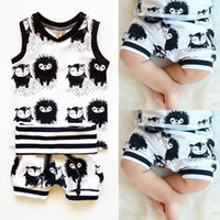 baby hedgehogs - 2016 Cute Infant Baby Girl Boy Clothes Vest Tops T shirt Shorts Hedgehog Outfits Set Sportwear