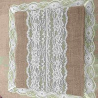 Wholesale 30 CM Linen Wedding Venue Decoration Wedding Supplies Lace Table Runners