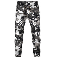 Wholesale Fashion Mens Camouflage Pants Joggers Baggy Pants Loose Sweatpants Casual Cargo Trousers Camo Joggers Plus Size A4984