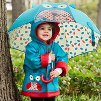 Wholesale Rainy Umbrella Long handle Children Umbrella Lovely Cartoon Kid s Bumbershoot For Girls and Boys Sunny Rainy Umbrella Hot