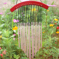 Wholesale Wood Amazing Deep Resonant Relaxing Tubes Windchime Bells Wind Chimes Hanging Bed Room Home Decor