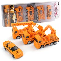 Wholesale 1 Model Toy Alloy Diecast Model SCL Builders Car SeriesScale Free Wheel children Toy Cars Best Gift set