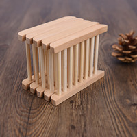 Wholesale Creative Natural Wooden Soap Dish Plate Tray Holder Box Case Shower Hand washing DHl ELSD001