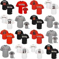 baseball suzuki - Youth Jose Fernandez Christian Yelich Giancarlo Stanton Ichiro Suzuki Miami Marlins kids Baseball Jersey stitched size S XL