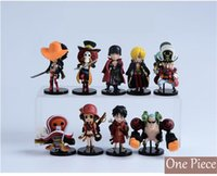 Wholesale One Piece action figures kids toys Cartoon figure model decoration toys play doll toys for children comic doll toy set