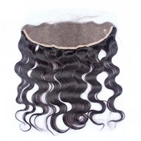 Wholesale Brazilian Lace Frontal CLosure x2 Lace Front Closure body wave human hair quality A frontal closure lace body wave brazilian closure top