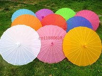 Wholesale 50pcs Chinese colored paper umbrella China traditional dance color parasol Japanese silk props