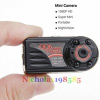Wholesale QQ6 Mini Camera Full HD Video Recorder P P Mini DV DVR Hidden Spy Camera Recorder Night Vision Motion Detect Camera Support TF Card