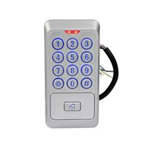 backlight systems - Waterproof Metal Access Control System Proximity MHZ IC Card Reader Access Control With Backlight Keypad Reader F1681D