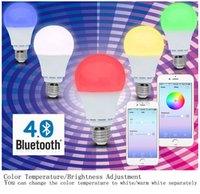 android union - BEST UNION Smart Bluetooth Led Light Bulb Smartphone Controlled Dimmable Works with iPhone iPad Android Phone and Tablet W GRB