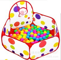 basket ball baby - Foldable With Basket Kids Pit Balls Pool Outdoor Indoor Tent Baby Toys Fun Sports Educational Toy