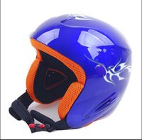 Wholesale fashion new Abs one piece monoboard professional skiing helmet protective helmet snow helmet