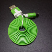 bars lines - 1M Noodle Flat Micro usb Cable Cord Data USB Charging Cords Charger Line for i S Samsung Android Phone