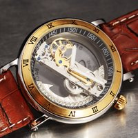 band boyfriend - Men watches Mechanical watches Business men watch Water resistant watch Leather band Send her boyfriend Father