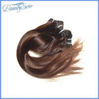 Armadura barata del pelo en la venta el pelo virginal brasileño 7a mezcló la porción 200g 4bundles de las extensiones sin procesar del pelo humano color marrón chocolate