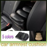 Wholesale Universal Car Auto Armrests Cover Vehicle Center Console Arm Rest Seat Box Pad Soft PU Mats Cushion