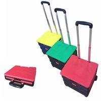 hand trolley - 30sets LJJG202 Shopping Trolley Foldable Shopping Cart Large Capacity With Cover Outdoor Shopping Good Helper