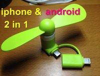 venda por atacado mini fan-Top qualidade melhor preço OTG Android iphone Telefone Fan Xiaomi 2ª Micro USB mini ventilador portátil para Android Smart Phone com caixa de Varejo