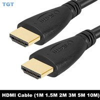 Wholesale DHL HDMI TO HDMI Cable Version M M M M M M High speed Gold Plated Plug Male Male p HD D For DVD HDTV TV BOX