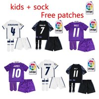 anti socks - kids sock Real Madrid Kids home Away jerseys Real Madrid RONALDO BENZEMA JAMES BALE shirt