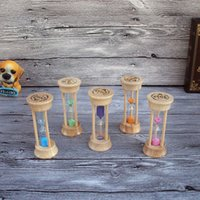 Wholesale Wooden three minutes brushing hourglass timer creative birthday gift Home Decoration Crafts
