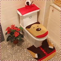 bathroom tissues - Christmas Decorations X max Reindeer Toilet Covers Seat Cover Tissue Box Rug Bathroom Mat Set Christmas Decorations MC0325