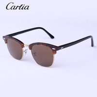 ban sunglasses - 2016 new genuine designer sunglasses for men women retro driving sunglasses bans half frame carfia glasses mm with free box case