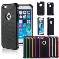 al por mayor caso del iphone de goma en un extremo-Para el caso híbrido de iphone7 7plus Caso duro resistente a prueba de choques mate de goma de impacto resistente para el iphone 6 más 5 6s 6s más iphone7 7plus