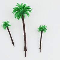 architectural quality - 180mm high quality scale palm trees for plastic architectural scale model trains layout roadside green palm tree