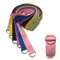 Cheap New Arrival Multi-Colors Yoga Stretch Strap Exercise Gym D-Ring Belt Waist Leg Fitness Sports Pilates Rope 183cm MD0030 kevinstyle