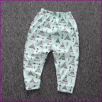Wholesale Pants Baby Boy Girl Fox Shark Batman Fearther Panda Bear Animal Cotton Pants Baby Fashion Harem Pants Summer Trousers