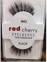 band cherry - In Stock Natual red cherry False Eyelashes High Quality Fake Eye Lashes Extension Band Makeup Retail