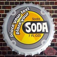 antique soda bottles - Metal Round Poster Drink SODA Vintage Beer signs Bottle Cap Restaurant Lounge Diner Bar Wall Decor cm RM