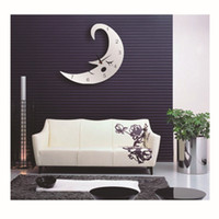 acrylic kitchen tops - 2016 TOP D Fashion Moon Acrylic Home Decorations Kitchen Pattern DIY Mirror Wall Sticker Large d Stickers