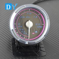 Wholesale High Quality INCH MM DY Turbo Boost gauge with Pink color Light HQ Car Meter