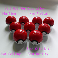 alloy toys - pokeBall Grinder quot Mon poke ball Meatl Herb Grinder Metal Zinc Alloy Plastic Metal Grinders Parts Grinders Toy with gift box great
