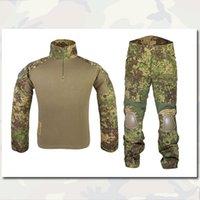 Wholesale Gen2 Combat Shirt Pants With Elbow Knee Pads Emerson Gear Airsoft Tactical Gear Uniform Teflon BDU Multicam MC EM2725