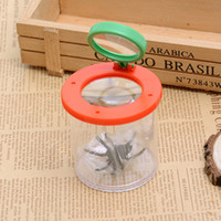 Wholesale Bug Box Magnify Insects Viewer Lens x Magnification Magnifier Childs Kids Toy Entomologists