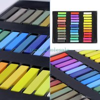 Wholesale 36 Colors Chalk Pastel Stick Vermicelli Chalk Powder Brush Hair Chalk For Beauty Girls