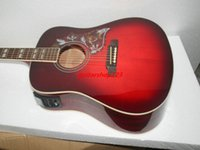 Wholesale New Arrival Wine red Acoustic electric guitar with high quality