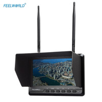 Wholesale FEELWORLD FPV720 Monitor quot IPS Screen Channels Dual Diversity Receiver Ultra Full HD Wireless FPV Monitor Built in Battery