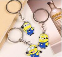 Wholesale Free DHL New Fashion Metal Cartoon Minion Keychain CJ3