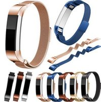 Wholesale Latest For Fitbit Alta Magnetic Milanese Loop Metal Bracelet Band Watch Band Stainless Steel Wrist Strap Bracelet Colorful Accessories